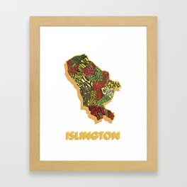 Islington - London Borough - Colour Framed Art Print