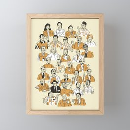 31 Characters From a Show About Nothing Framed Mini Art Print