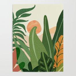Desert Garden Sunset Poster