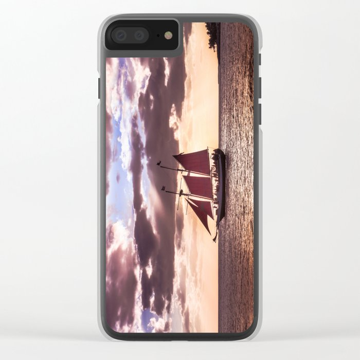 Scarlet sails Clear iPhone Case