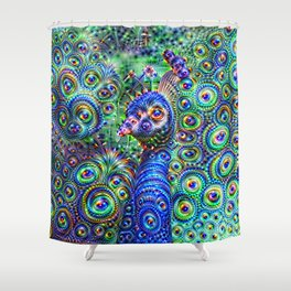 Brilliant Jeweled Peacock Shower Curtain