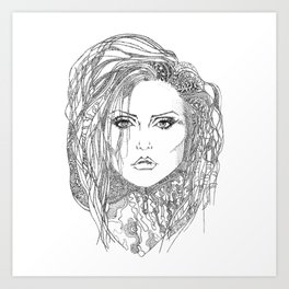Deborah (Debbie) Harry of Blondie Art Print