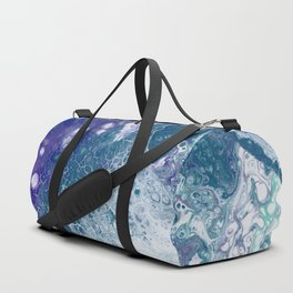 Purple and Teal Whisper Duffle Bag