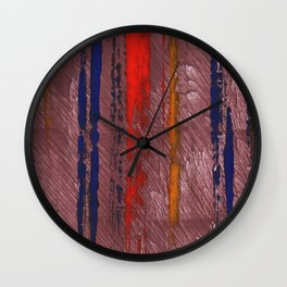 Bright red abstract painting Wall Clock