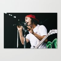pierce the veil Canvas Prints featuring Pierce The Veil at Warped Tour '15 by Kelly Ann Shuler