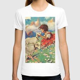 Jessie Willcox Smith - Heidi, Girl Of The Alps - Digital Remastered Edition T-shirt