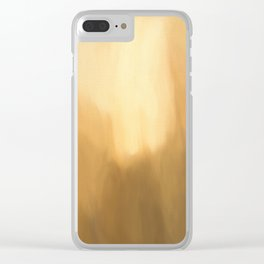 Abstract Beige Shades. Like painted on canvas. Clear iPhone Case