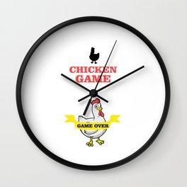 Chicken Game Wall Clock