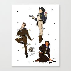 Threesomes~ Twin Peaks Police Dept. Canvas Print
