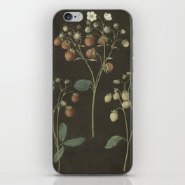 Botanical Wild Strawberry iPhone Skin