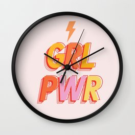 GRL PWR - GIRL POWER Wall Clock