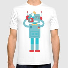 Robot loves Diana MEDIUM White Mens Fitted Tee