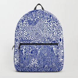sarasa paisley all over in blues Backpack