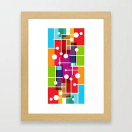 Hi Tech Dot Line Mosaic Framed Art Print
