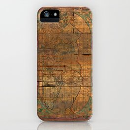 Distressed Old Map iPhone Case