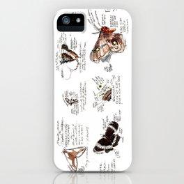 Lepidoptera inspiration: a watercolor collection of Saskatchewan moths & butterflies iPhone Case