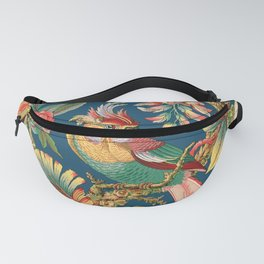 Antique French Chinoiserie in Blue Fanny Pack
