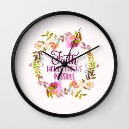 Faith Possible Wall Clock