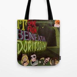 """It Came From Beneath Doritodan"" - Dungeons & Doritos Tote Bag"