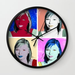 In the Style of... Andy Warhol, 2010 Wall Clock