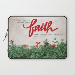 Through faith. Laptop Sleeve