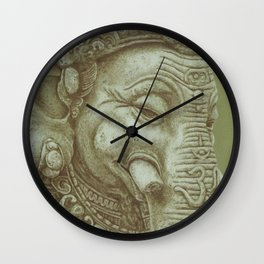 Ganesh green Wall Clock