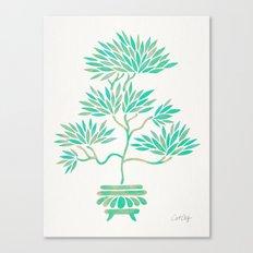Bonsai Tree – Mint Palette Canvas Print