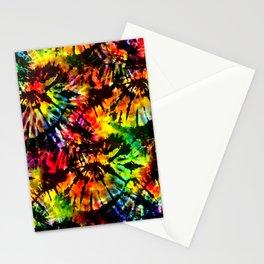 Vivid Psychedelic Hippy Tie Dye Stationery Cards