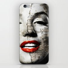 Marilyn Monroe - Wall painting iPhone & iPod Skin