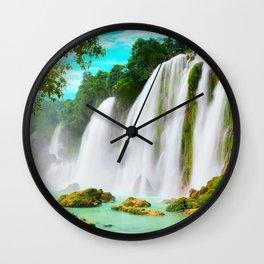 Detian Waterfall Wall Clock