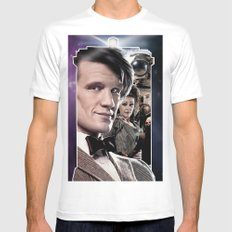 Doctor Who -11th Doctor MEDIUM Mens Fitted Tee White