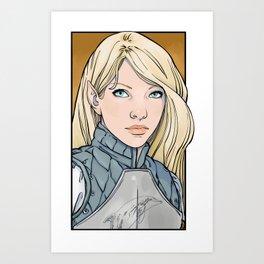 Calaeriel, Half-Elven Paladin Art Print