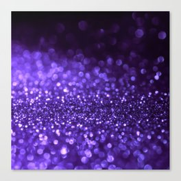 Pantone Color 2018 Ultra Violet Purple Glitter Canvas Print