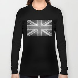 Union Jack Vintage retro style B&W 3:5 Long Sleeve T-shirt
