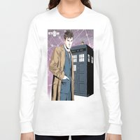david tennant Long Sleeve T-shirts featuring Doctor Who - David Tennant by Averagejoeart