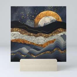 Metallic Mountains Mini Art Print