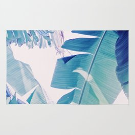 Banana Leaf Blue Rug