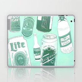 Vacation beers in mint green Laptop & iPad Skin