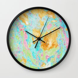 Acid on Easter (Alcohol Inks Series 02) Wall Clock