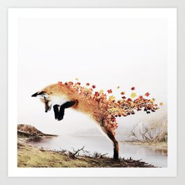 Autumn Fox Art Print