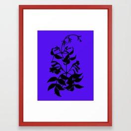 Bignonia in Lime Green / Chartreuse - Original Floral Botanical Papercut Design Framed Art Print