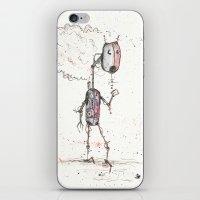 robot iPhone & iPod Skins featuring Robot by Elias Klingén