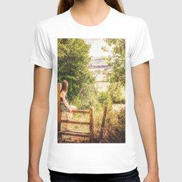 Summer-haze landscape T-shirt