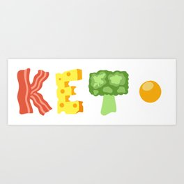 4 Pillars of Ketosis Art Print