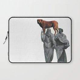 plato n aristotle walking their doge Laptop Sleeve