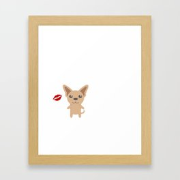 I Kissed A Chihuahua And I Liked It Cute Dog Kiss Gift Idea Framed Art Print