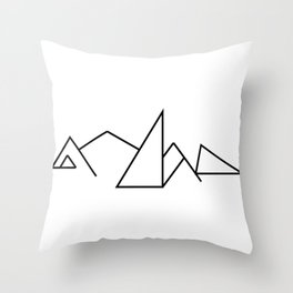 Seven Summit Mountains Geographic Design Throw Pillow