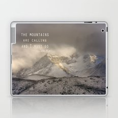 The Mountains are calling, and I must go.  John Muir. Vintage. Laptop & iPad Skin