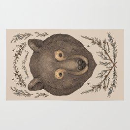 The Bear and Cedar Rug