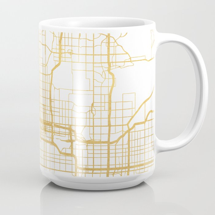 PHOENIX ARIZONA CITY STREET MAP ART Coffee Mug by deificusart Society6